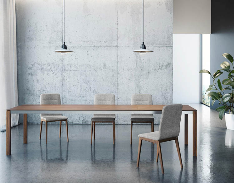Mobican modern dining room with concrete floors