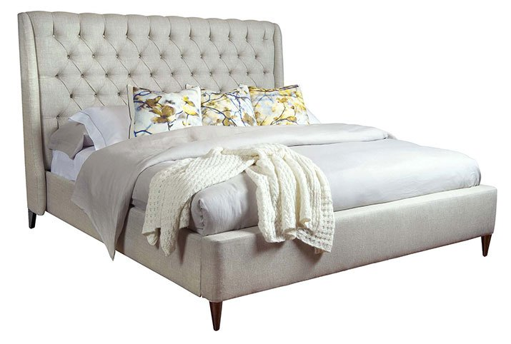 Upholstered Kara bed by Belle Meade Signature