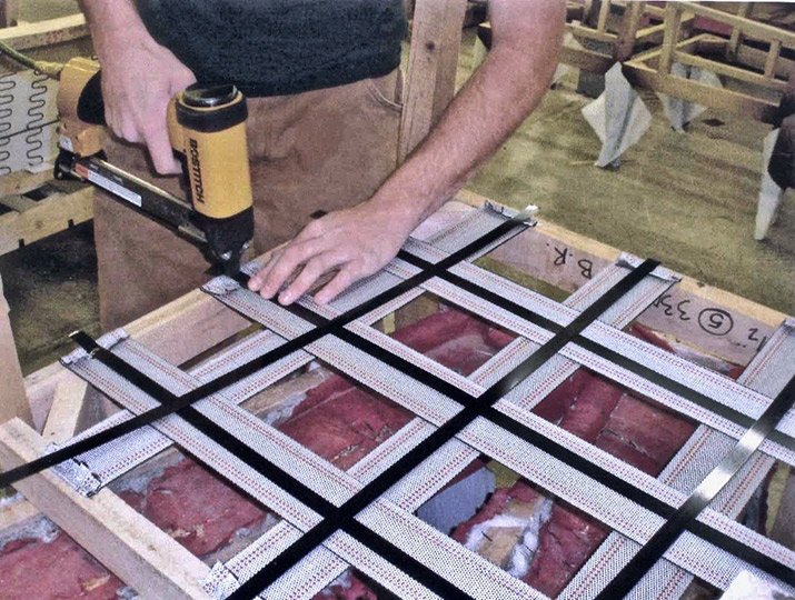 Artisan fastens supports for custom furniture