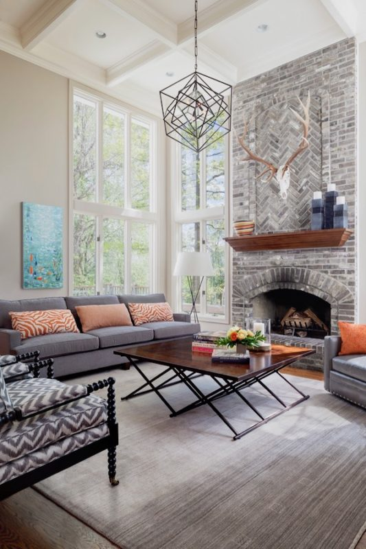 Design Wright Studios collection by a beautiful old wood-burningfireplace