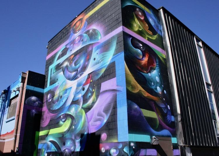 wonderful street art enlivens the old buildings of RiNo in Denver