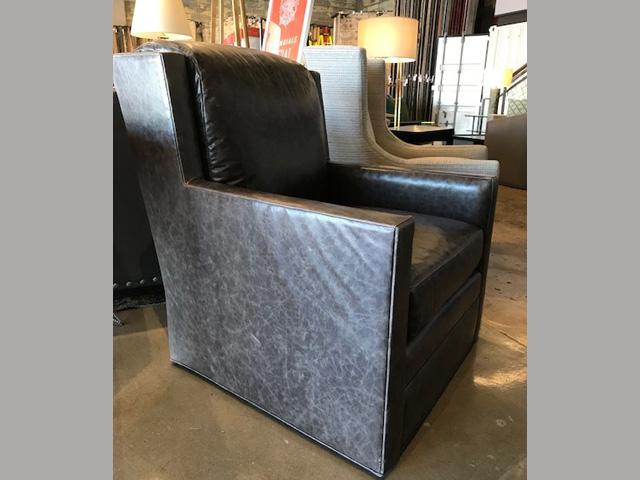 Carson Swivel Chair 32W 37D 36H Retail $4,035 Sale $2,400