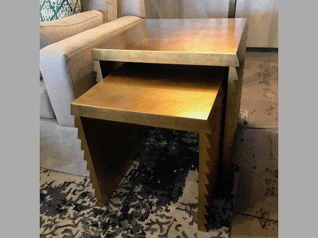 Jet Set Nesting Tables (Sold Together) 44W 44D 44H (Larger Table) Retail $1,596 Sale $957