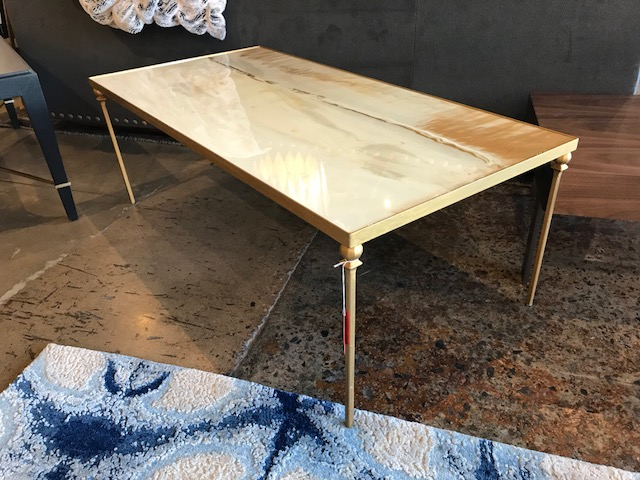 Mixed Media Coffee Table 48W 24D 17H Retail $3,450 Sale $2,000