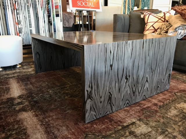 Waterfall Cocktail Table 54W 39D 21H Retail $5,550 Sale $3,330