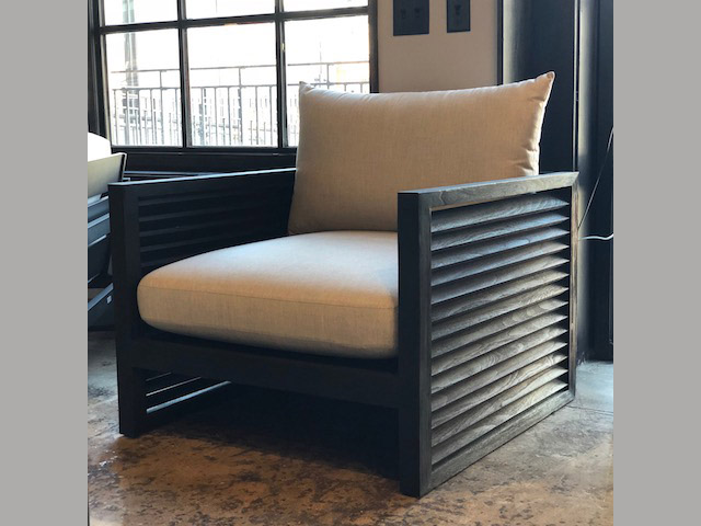 Louver Arm Chair 71W 37.5D 24H Retail $2,368 Sale $1,539