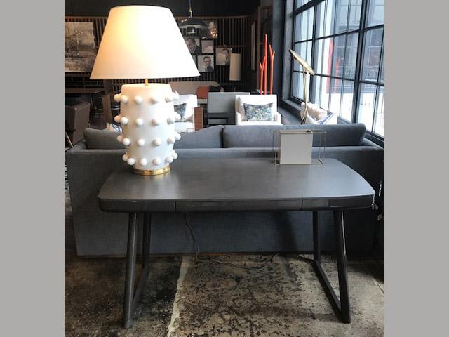 Ata Desk with gray oak top 55W 27.6D 29.5H Retail $3,290 Sale $1,974