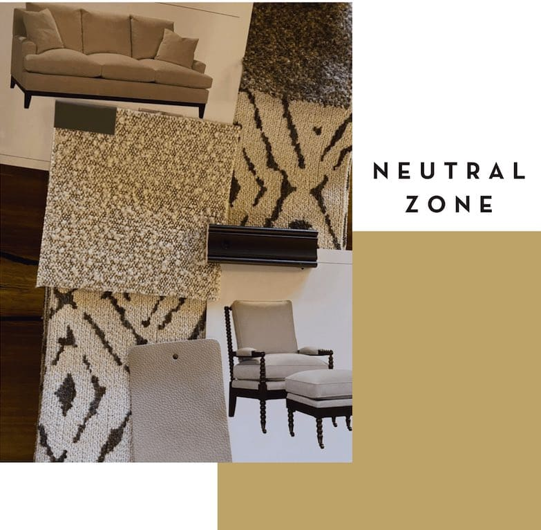 fabric swatches for design upholstery in neutral tones