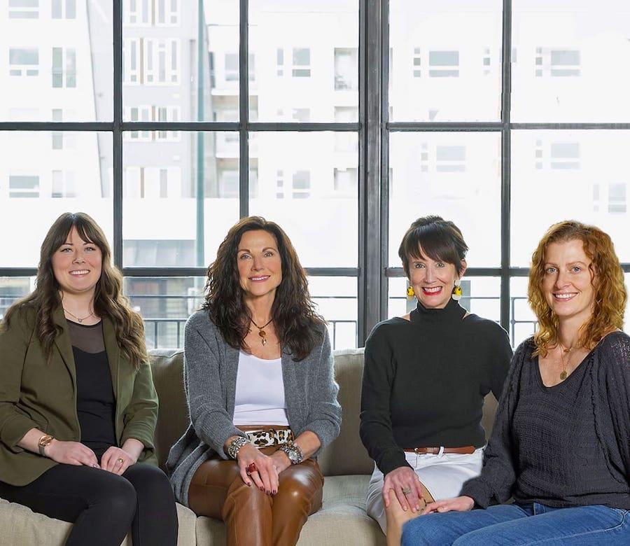 Alyssa Harpole, Mary Wright, Mary Pat Heath, and Heather Kelly of Design Wright Studios