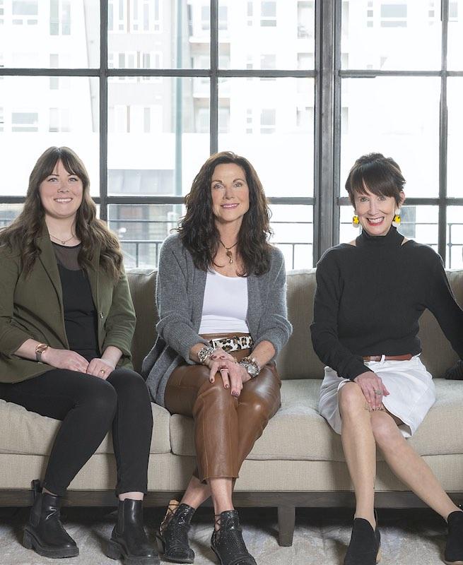 Alyssa Harpole, Mary Wright, and Mary Pat Heath of Design Wright Studios